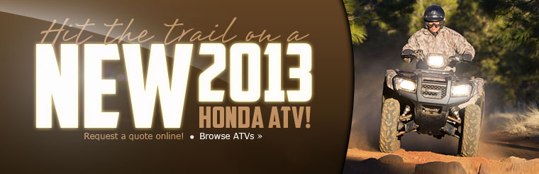 Click here to browse the lineup of 2013 Honda ATVs!