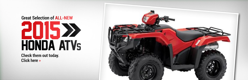 Check out the lineup of 2015 Honda ATVs.