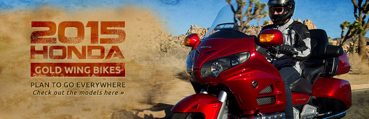Hit the road on a 2015 Honda Gold Wing!