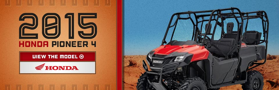 2015 Honda Pioneer 700: Click here to view the model.