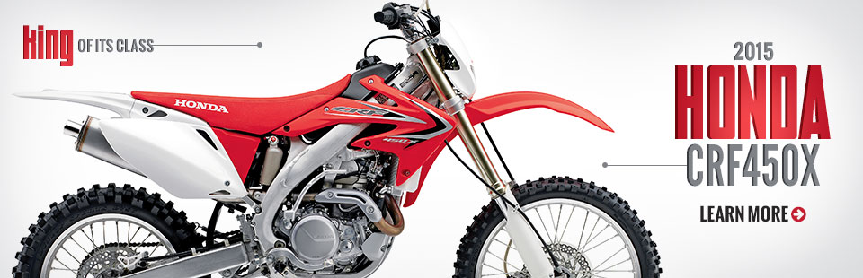 2015 Honda CRF450X: Click here to view the model.