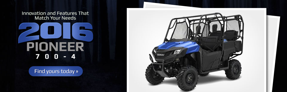 2016 Honda Pioneer 700-4: Click here to view the models.