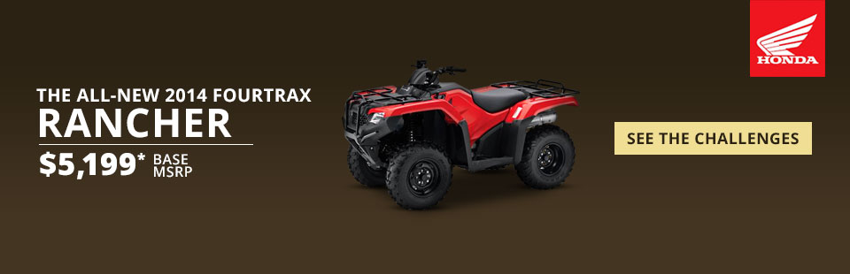 View the 2014 Honda FourTrax Rancher.