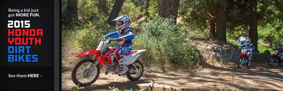 2015 Honda Youth Dirt Bikes: Click here to view the models.