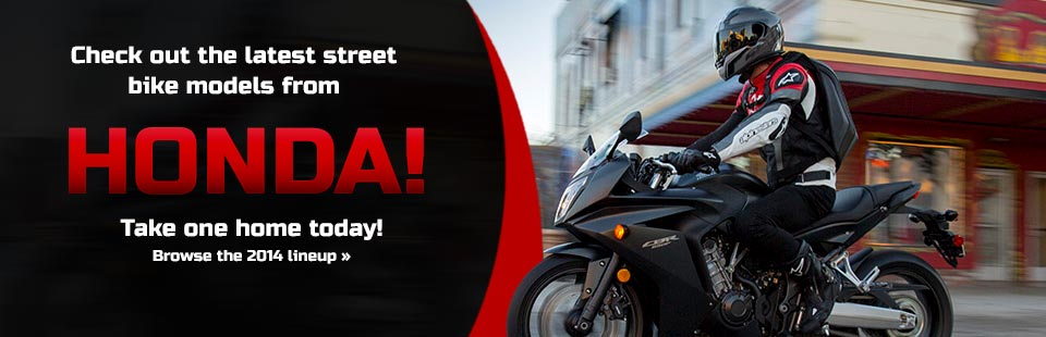 View the 2014 Honda street bikes.