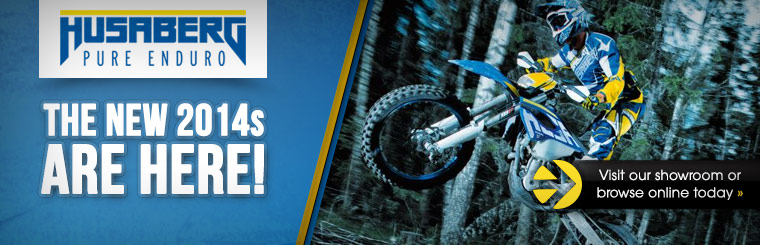 Click here to view the 2014 Husaberg dirt bikes.