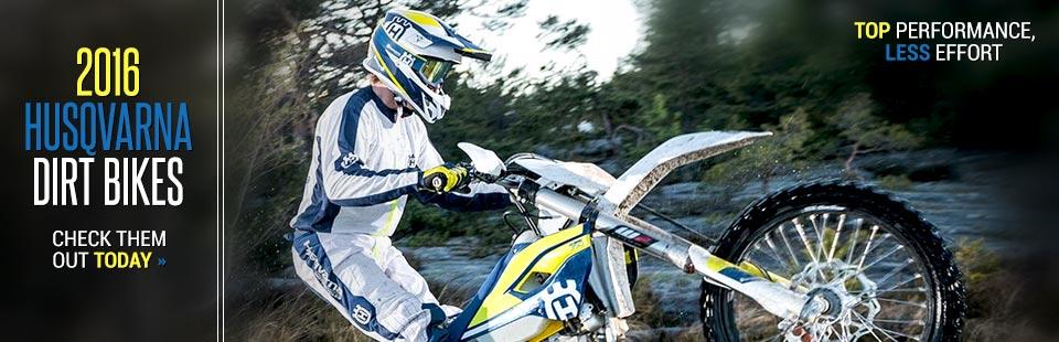 2016 Husqvarna Dirt Bikes: Click here to view the models.