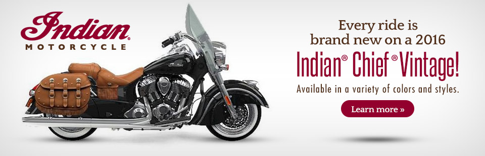 2016 Indian® Motorcycle Chief® Vintage: Click here to view the model.
