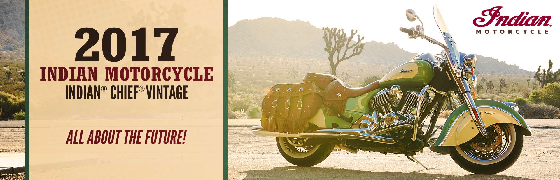 2017 Indian Motorcycle Indian® Chief® Vintage: Click here to view the model.