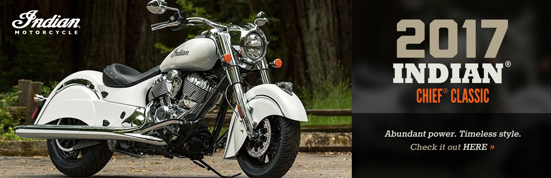 2017 Indian® Chief® Classic: Click here to view the model.