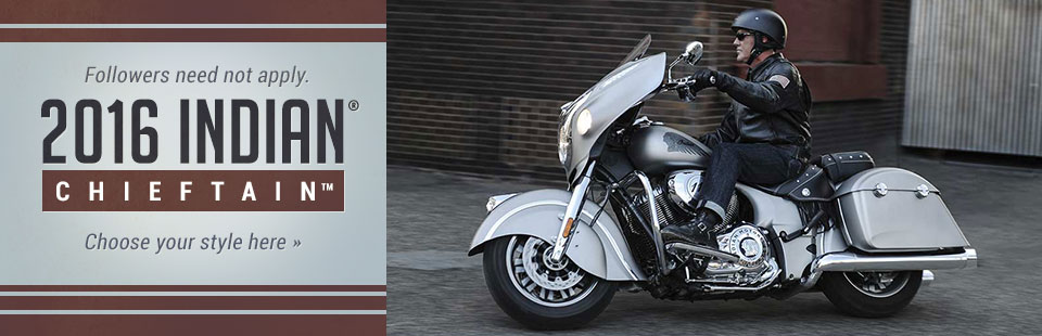 2016 Indian® Motorcycle Chieftain®: Click here to view the model.