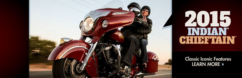 Click here to view the 2015 Indian® Chieftain™.