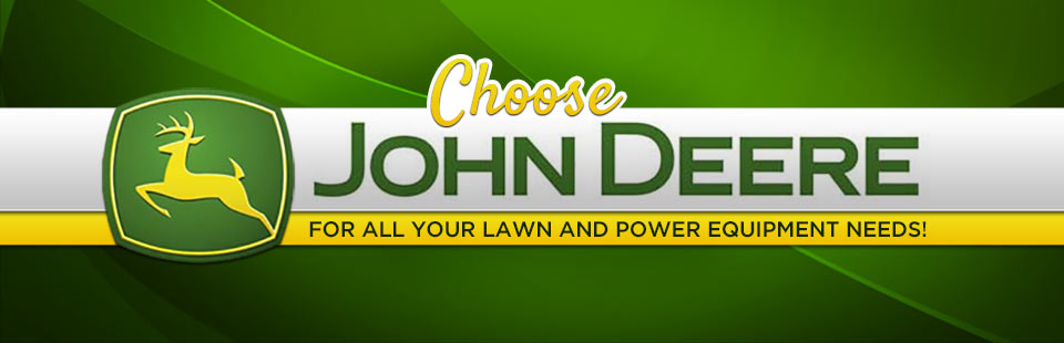Click here to browse John Deere lawn and power equipment.