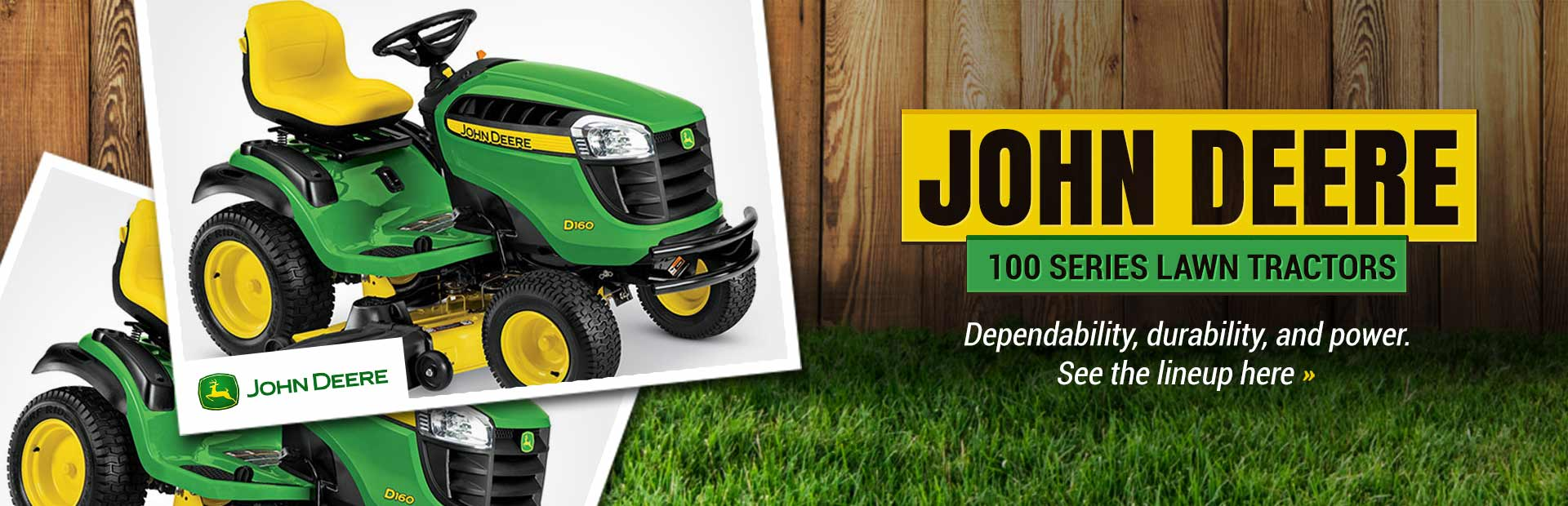 John Deere 100 Series Lawn Tractors: Click here to view the lineup!