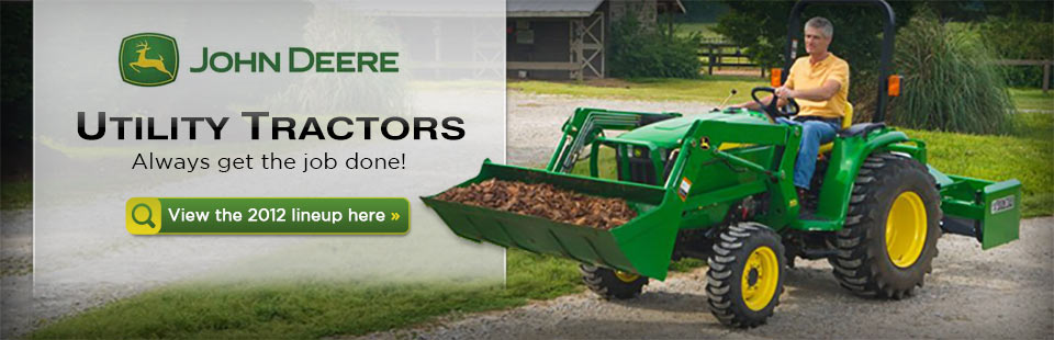 Click here to view the lineup of 2012 John Deere utility tractors.