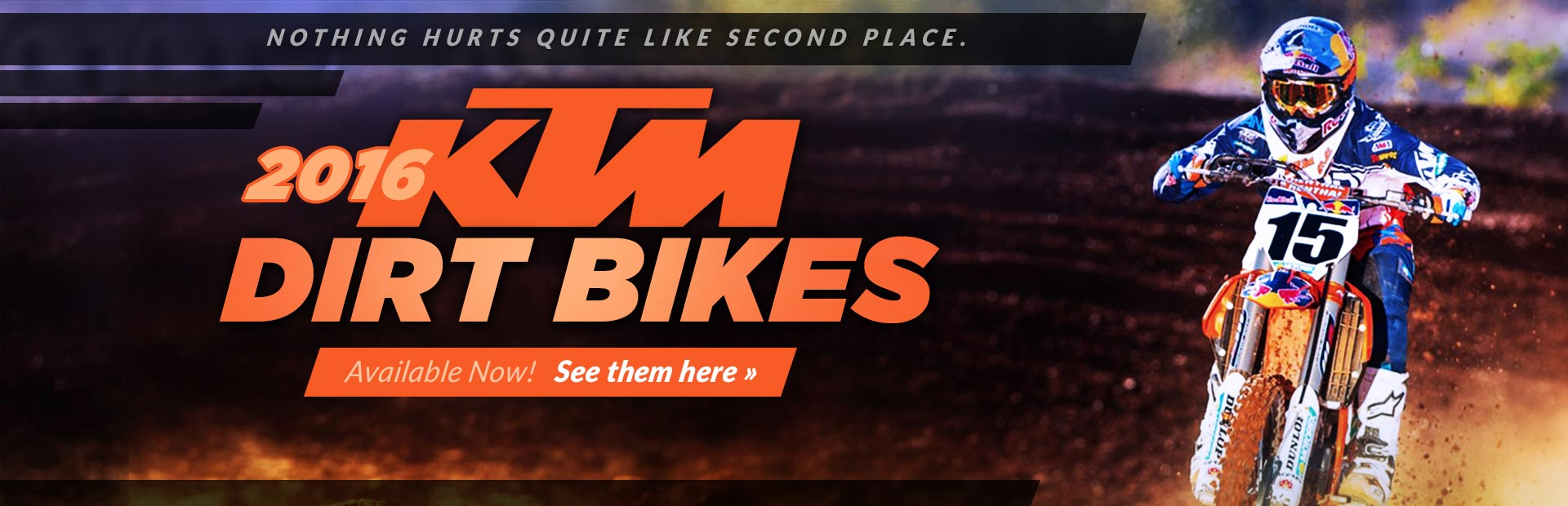 2016 KTM Dirt Bikes: Click here to view our selection!