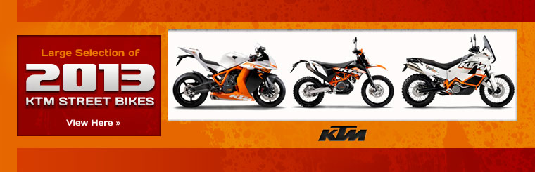 Click here to view the 2013 KTM street bikes.