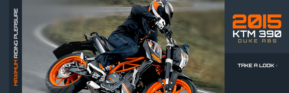 2015 KTM 390 Duke ABS: Click here to view the model.