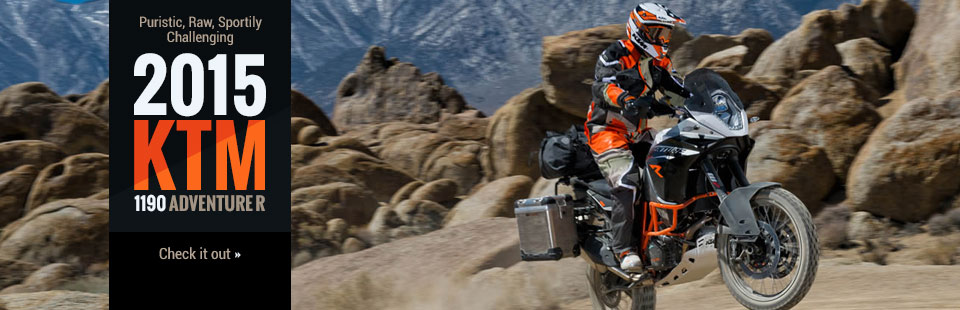 2015 KTM 1190 Adventure R: Click here to view the model.