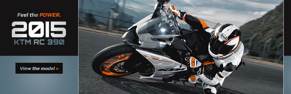 2015 KTM RC 390: Click here to view the model.