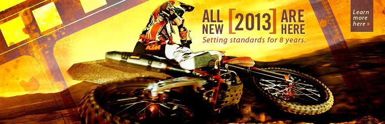 Click here to view the 2013 KTM dirt bikes.