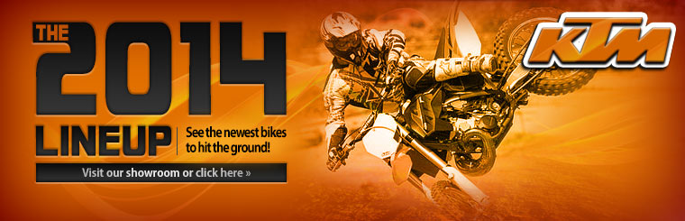 Click here to view the 2014 KTM dirt bikes.