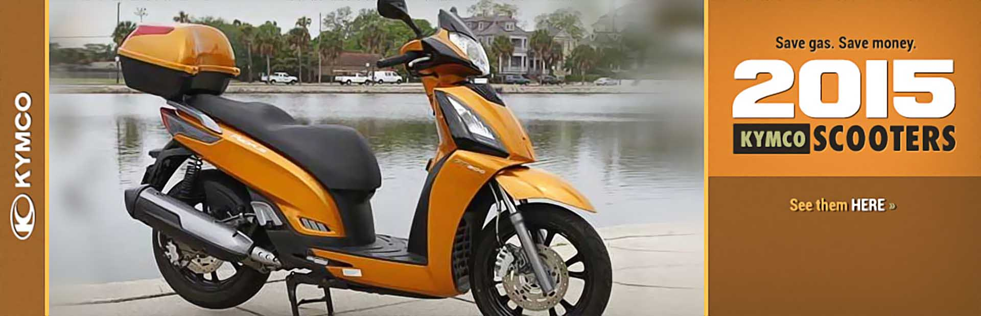 2015 KYMCO Scooters: Click here to view the lineup.