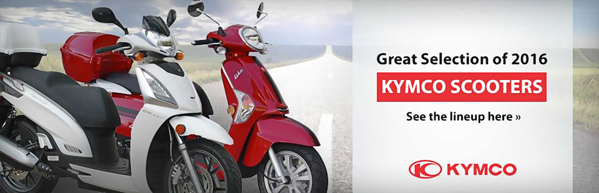 2016 KYMCO Scooters: Click here to view the models.