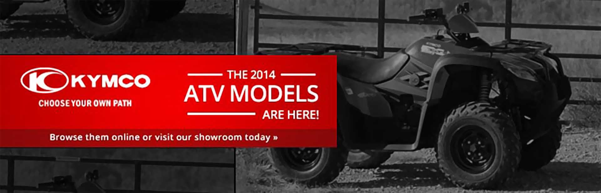 View the 2014 KYMCO ATVs.