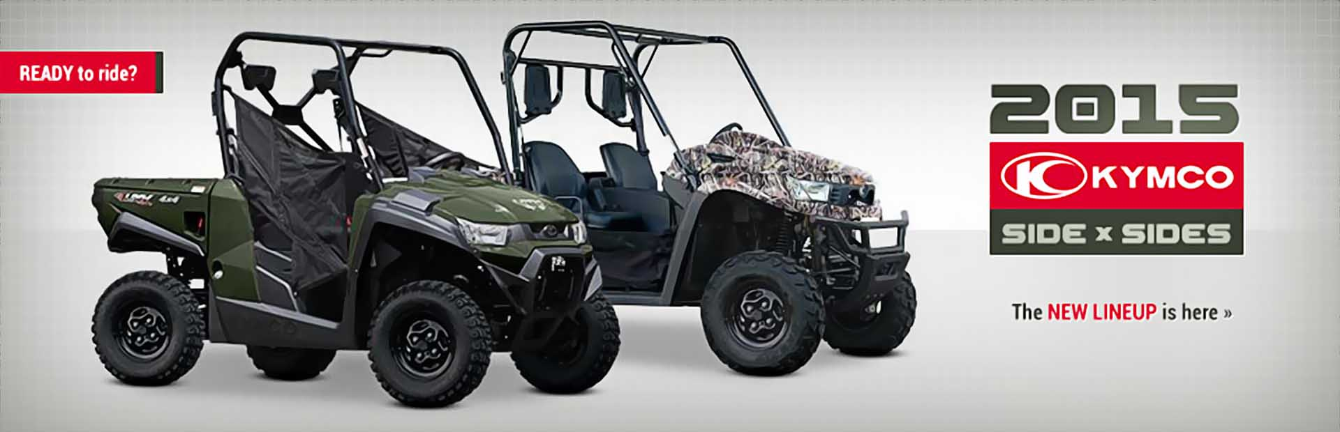 2015 KYMCO Side x Sides: Click here to view the lineup.