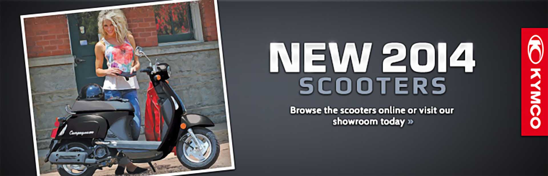View the 2014 KYMCO scooters.
