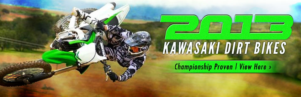 Click here to view the 2013 Kawasaki dirt bikes.