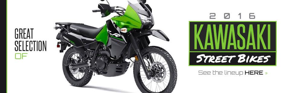 2016 Kawasaki Street Bikes: Click here to view the models.