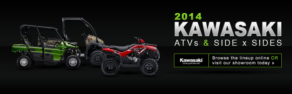 Check out the 2014 Kawasaki ATVs and side x sides.