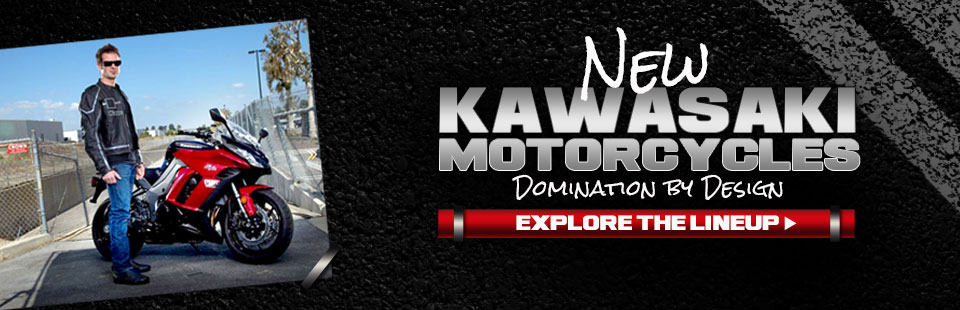 Click here to explore the lineup of new Kawasaki motorcycles.