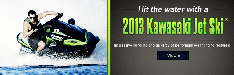 Click here to view the 2013 Kawasaki Jet Ski® personal watercraft.