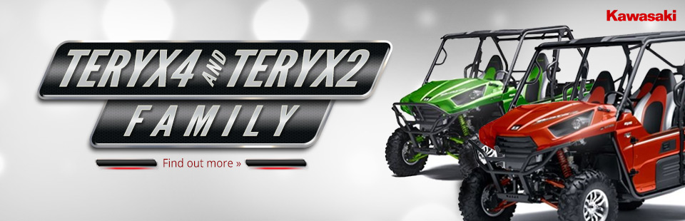 2014 Kawasaki Teryx4 and Teryx2 Family: Click here to view the models.