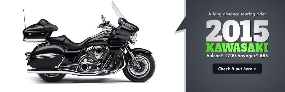 2015 Kawasaki Vulcan® 1700 Voyager® ABS: Click here for details!