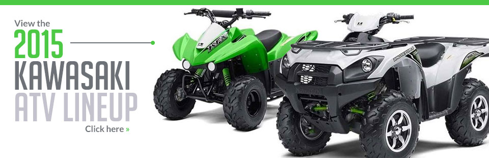 Click here to view the 2015 Kawasaki ATV lineup!