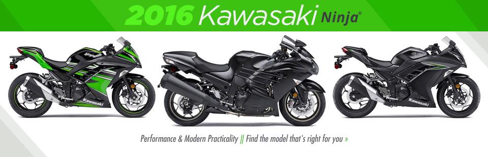 2016 Kawasaki Ninja Street Bikes: Click here to view the models.