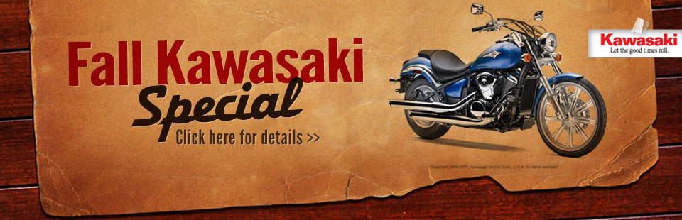 Fall Kawasaki Special: Click here for the lineup.