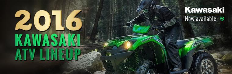 2016 Kawasaki ATVs: Click here to view the lineup.