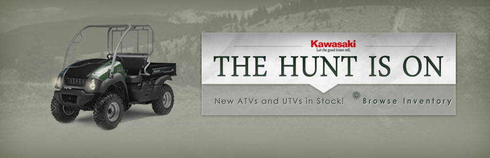 The hunt is on! We have new Kawasaki ATVs and UTVs in stock! Browse the inventory here.
