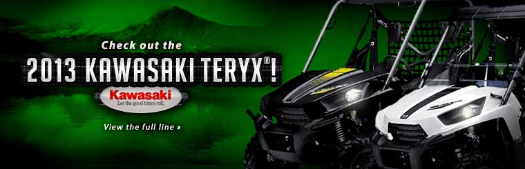 Click here to view the full line of 2013 Kawasaki Teryx® side x sides.