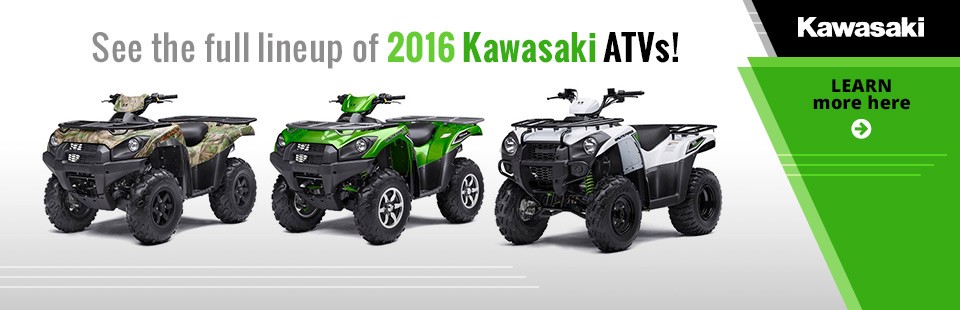 2016 Kawasaki ATVs: Click here to view the lineup.