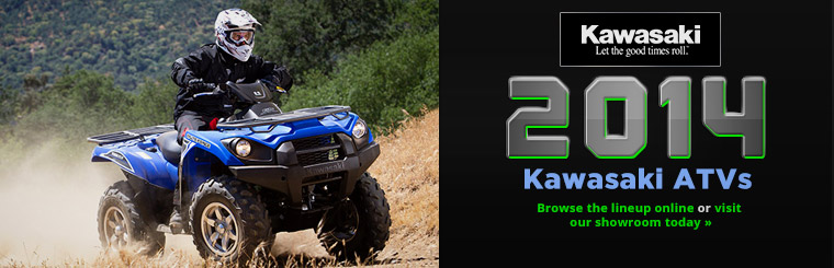 Check out the 2014 Kawasaki ATVs.