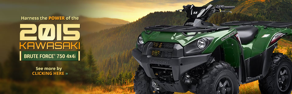 2015 Kawasaki Brute Force® 750 4x4i: Click here for details!