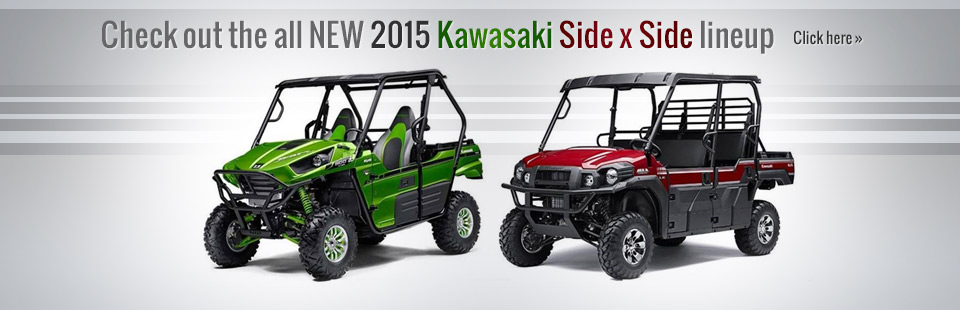 Click here to view the 2015 Kawasaki side x side lineup!