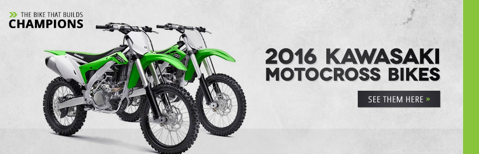 2016 Kawasaki Motocross Bikes: Click here to view the models.