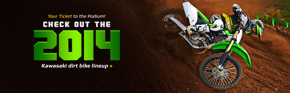 View the 2014 Kawasaki dirt bikes.